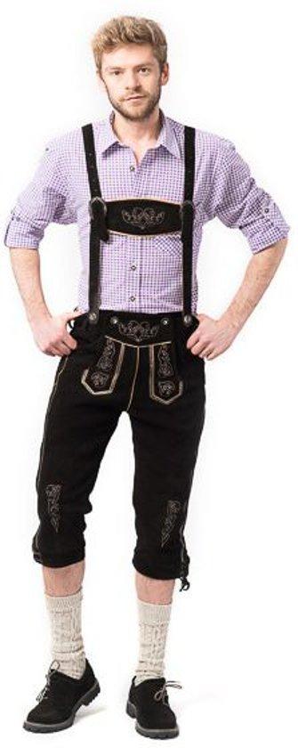 Lederhose voor mannen - Lange lederhosen - Peter - Oktoberfest kleding - 100% leder - mt 52 in Paddepoel