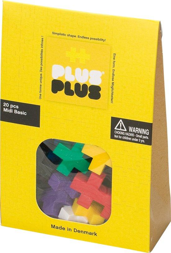 Plus-Plus Midi Basic, 20 stuks - Constructie blokken in Putten
