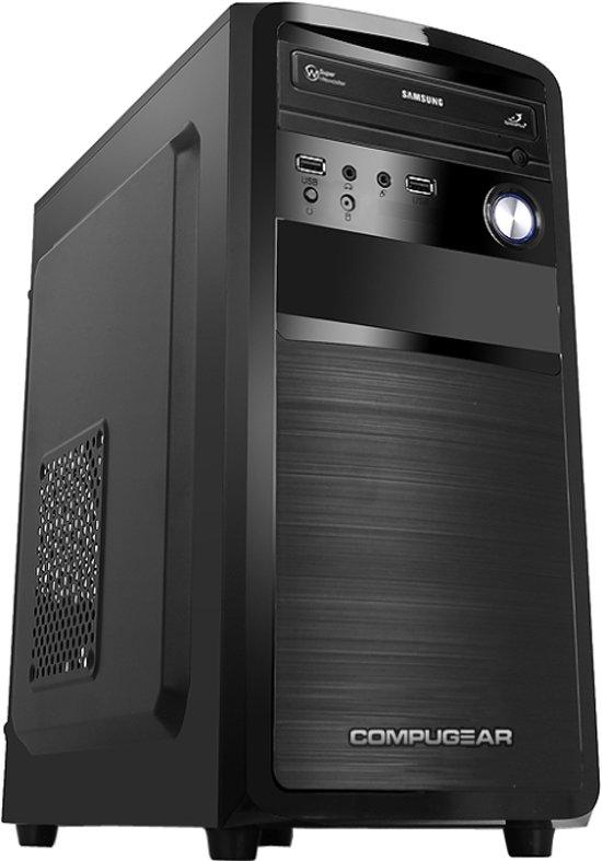 COMPUGEAR Desktop PC met AMD A8-7600 + 8GB RAM + 120GB SSD + 1TB HDD + WiFi + Windows 10