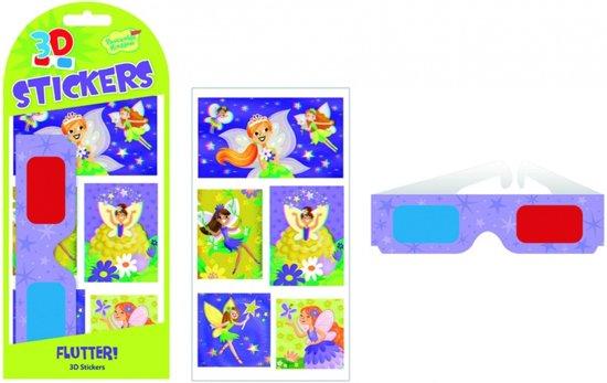 Peaceable kingdom 3d stickers flutter! 5 stuks in Honesch