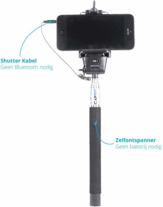 captec selfiestick connected selfie stick met ingebouwde knop voor iphone. Black Bedroom Furniture Sets. Home Design Ideas