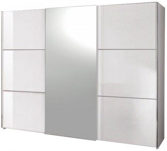 Davidi design moral kledingkast wit hout metaal glas wonen - Designer kledingkast ...