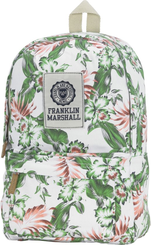 Franklin & Marshall Fashion Mini - Rugzak - White Vintage Flower Allover in Lakei