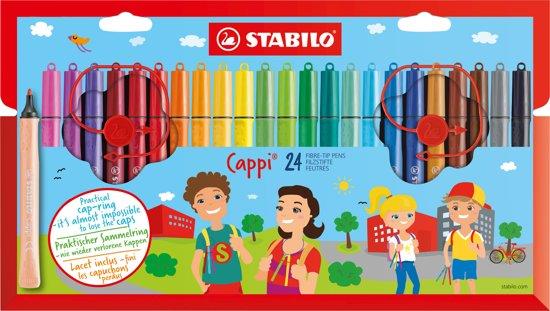 STABILO Cappi Viltstift - 24 stuks in Etui