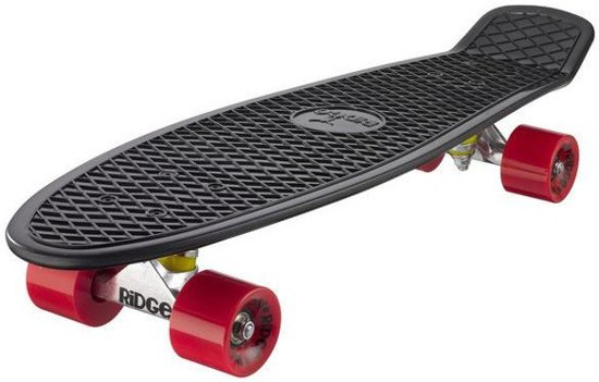 Penny Skateboard Ridge Retro 27'' Skateboard Black / Red in De Zak