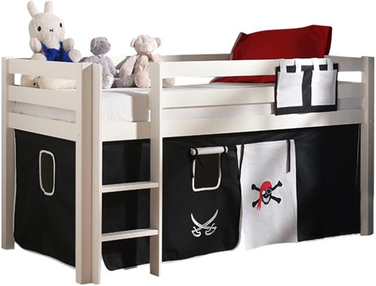halfhoogslaper charlotte wit bedtent piraat. Black Bedroom Furniture Sets. Home Design Ideas
