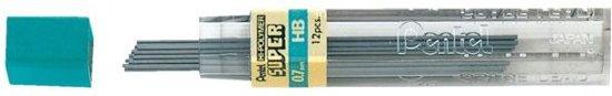 Pentel Vulpotlood Vulling | Potloodstift 0,7 mm Zwart HB buisje à 12 stiften in Luttelgeest