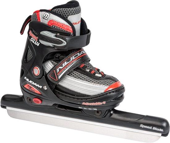 Nijdam Norenschaats Junior - Verstelbaar - Zwart - Maat 34-37 in Carnisse