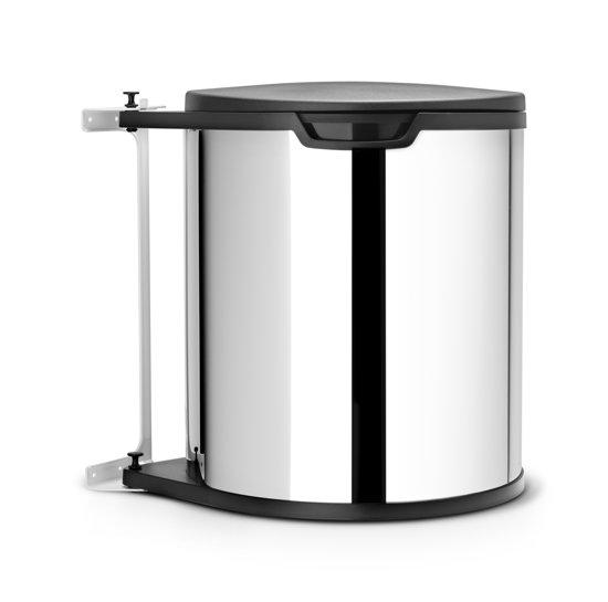 brabantia built in bin vuilbak 15 l brilliant steel. Black Bedroom Furniture Sets. Home Design Ideas