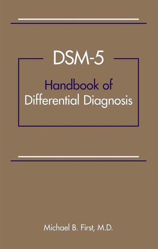 dsm 5 handbook of differential diagnosis pdf