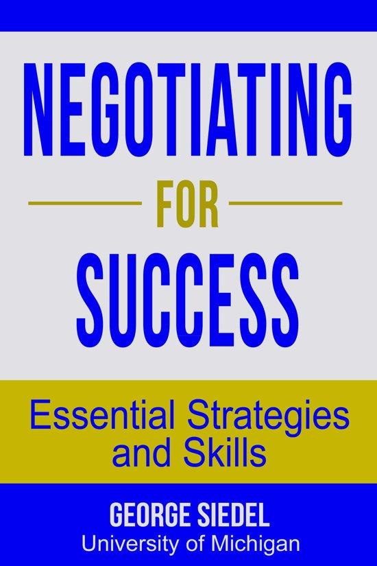 strategies for success negotiations skills mastery
