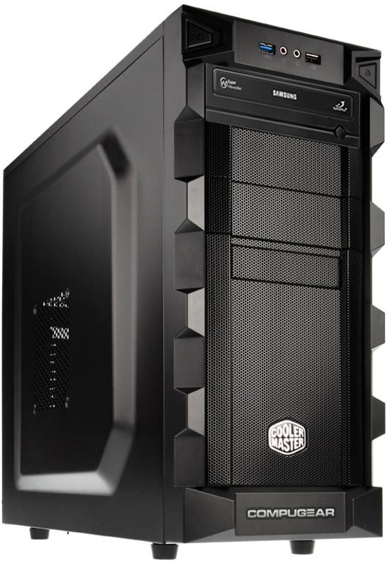 COMPUGEAR Game PC met Intel Core i7 Quad-Core + 8GB RAM + 1TB HDD + WiFi + GTX 1060 6GB + Windows 10