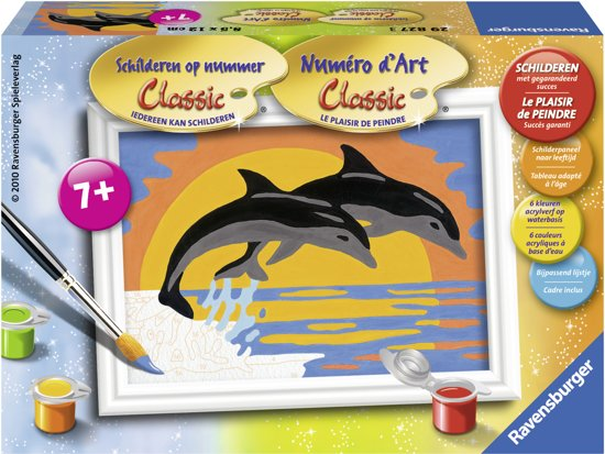 Ravensburger schilderen op nummer Dolfijnen romantiek in Vinderhoute