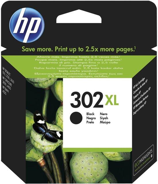 HP 302XL - Inktcartridge / Zwart (F6U68AE)