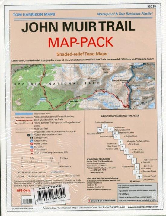 john muir trail map pdf