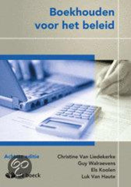 Boekhouden voor het beleid liedekerke van 9789045541396 boeken - Kast voor het opslaan van boeken ...