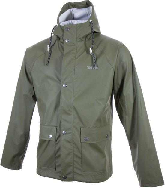Tenson Kullen Regenjas - Maat M  - Mannen - groen in Moesdijk