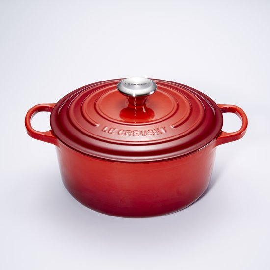 le creuset signature braadpan 5 3 liter 26 cm kersenrood. Black Bedroom Furniture Sets. Home Design Ideas
