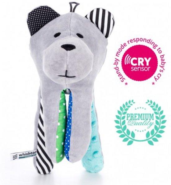 Whisbear® Baby shusher knuffelbeer met Cry Sensor - Turquoise in Kleuter