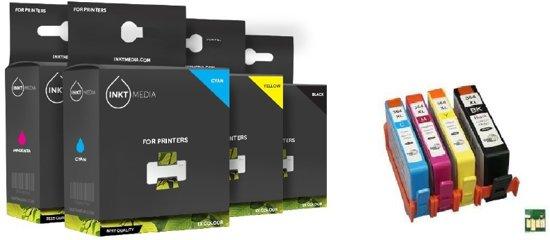 Inktmedia - Inktcartridge / Alternatief voor de HP 364XL / Magenta /Cyaan / Geel / Zwart