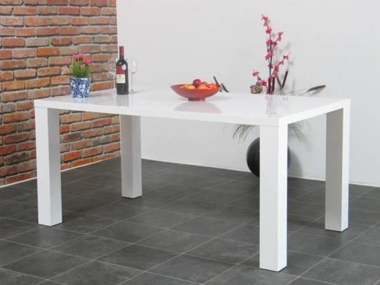 bol.com : Tvilum Eetkamertafel hoogglans wit Paya 160x90 cm : Wonen