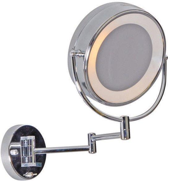 qazqa scheerspiegel make up spiegel chroom. Black Bedroom Furniture Sets. Home Design Ideas