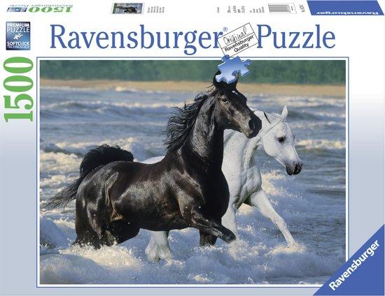 Ravensburger puzzel Paarden op het strand - Legpuzzel - 1500 stukjes in Walem