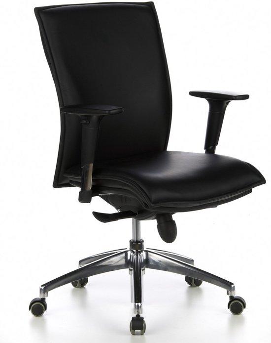 Hjh Office Bureaustoel Murano 10 Fijnleder - Zwart in Feneur