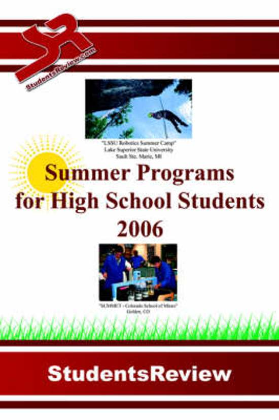 summer program high school Learn something new this summer university of washington's summer youth programs offer educational camps and high school students also.