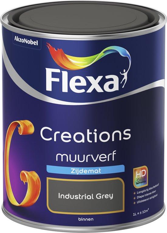 Beste Tegelverf Badkamer ~ bol com  Flexa Creations  Muurverf Zijdemat  3036  Industrial Grey
