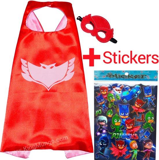 Verkleedkleding PJ Masks Owlette Cape en Masker speelgoed - Superhelden Kostuum voor kinderen 3 tot 10 jaar - Voor rollenspel of kinderfeestjes! - voor jongens en meisjes - Supergave outfit voor je kind - Verkleedkleren van King Mungo - KMSC022 in Vodecée