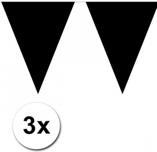 3x Vlaggenlijn zwart 10 meter in Dendermonde