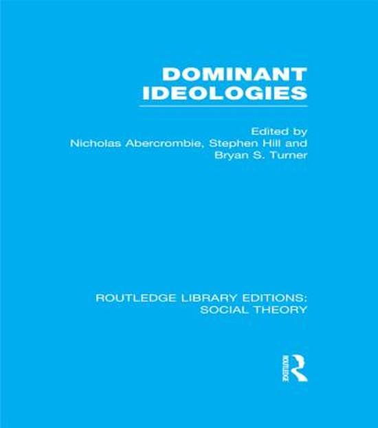 abercrombie turner dominant ideology thesis Noté 00/5 retrouvez the dominant ideology thesis et des millions de livres en stock sur amazonfr achetez neuf ou d'occasion.