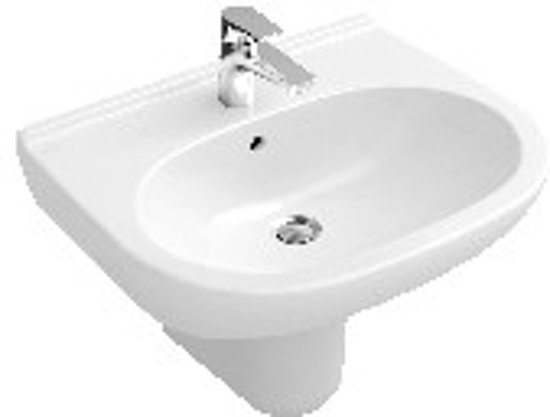 Villeroy boch o novo wastafel 60 x 49 cm keramiek wit - Wastafel rechthoekig badkamer ...