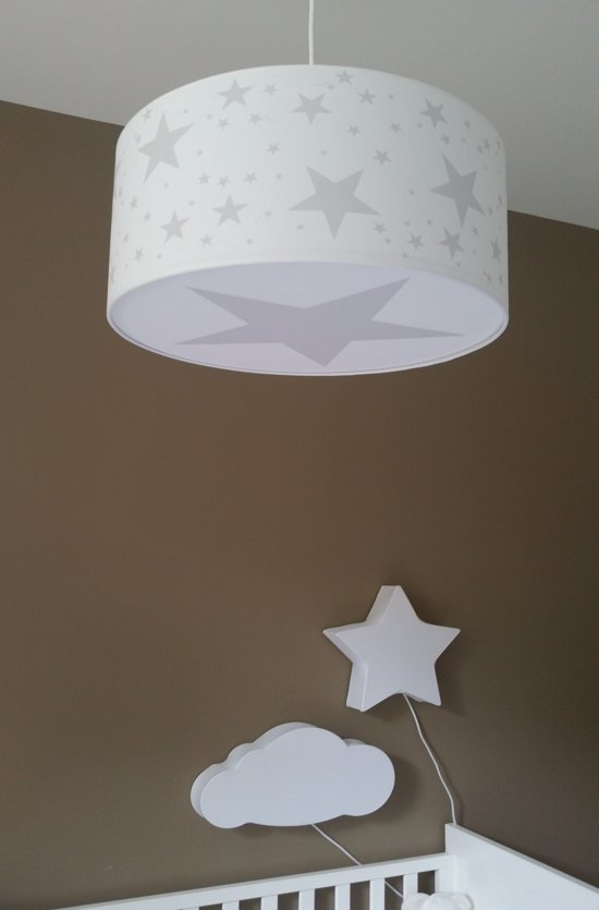 Hanglamp kinderkamer ster grijs - Lamparas de techo infantil ...