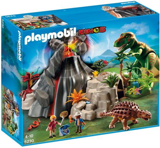 Playmobil T-Rex en Saichania met Vulkaan - 5230