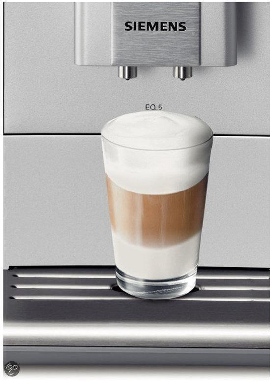 siemens eq 5 macchiato te503201rw volautomaat espressomachine elektronica. Black Bedroom Furniture Sets. Home Design Ideas