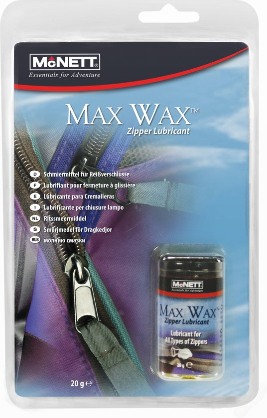 Mcnett  Max - Wax voor Ritsen - 20 gram in Cartils