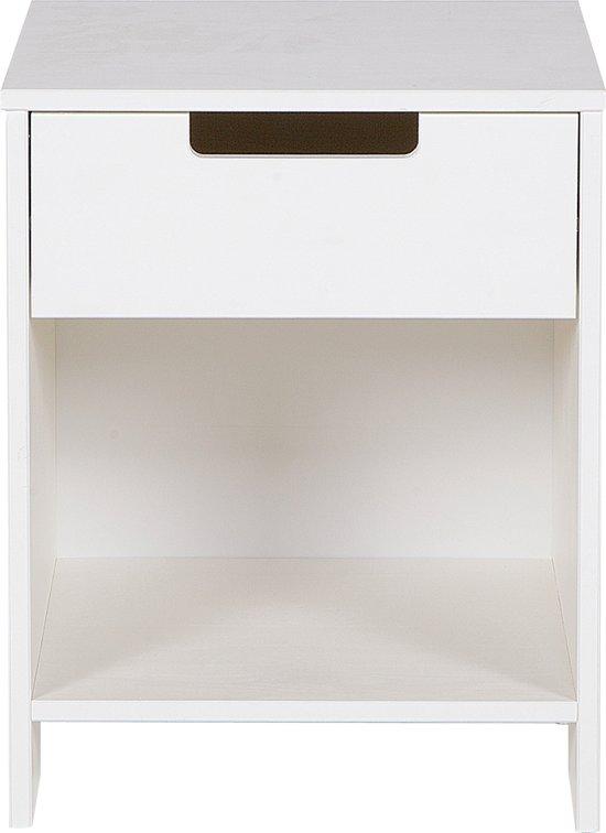 Woonexpress jade nachtkastje wit hout - Wit hout nachtkastje ...