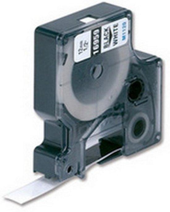 Dymo D1 (40913) beletterings tape 9 mm / Zwart op Wit (huismerk)