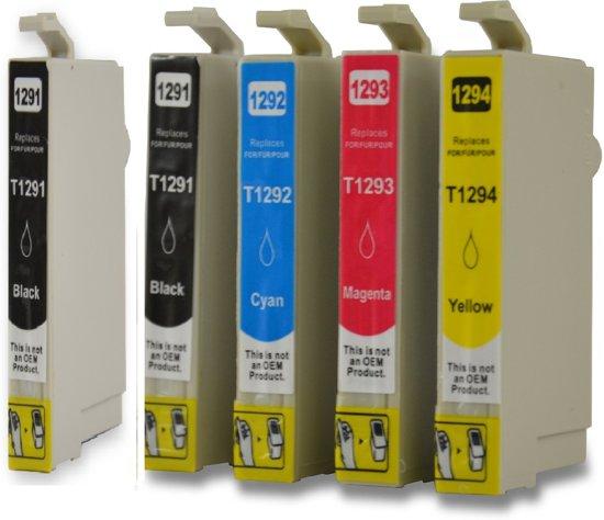 Compatible voor Epson T1291-T1294/T1295 InktBV® Inktcartridge-set 5pak