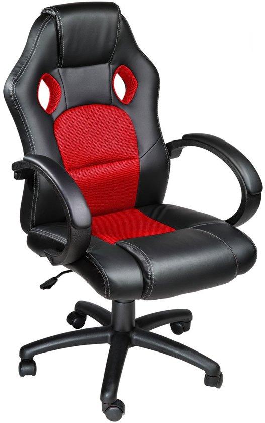 Luxe design racing bureaustoel rood zwart for Bureau stoel