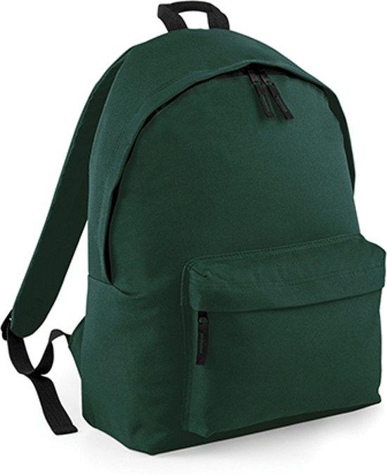 BagBase Backpack - Rugzak - 18 l - Bottle Green in It Fliet