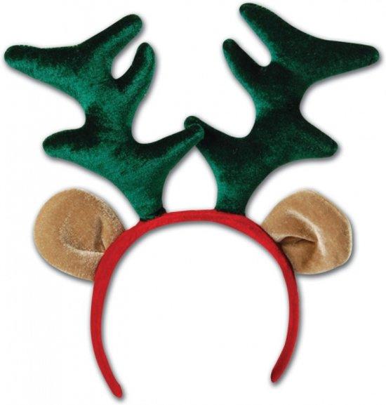 bol kerst diadeem met rendier gewei
