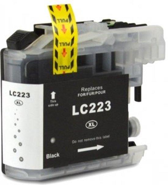 Brother Huismerk LC223  MediaHolland compatible inktpatroon zwart 20 ml
