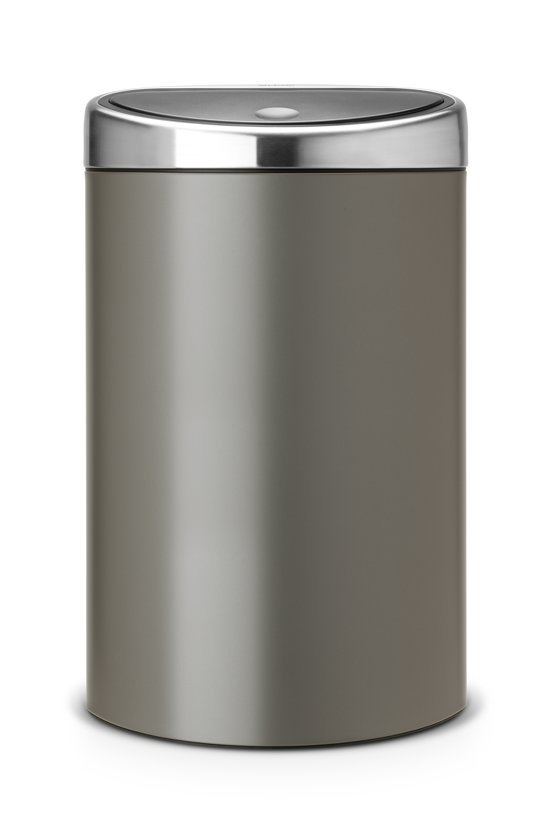 brabantia touch bin prullenbak 40 l platinum. Black Bedroom Furniture Sets. Home Design Ideas