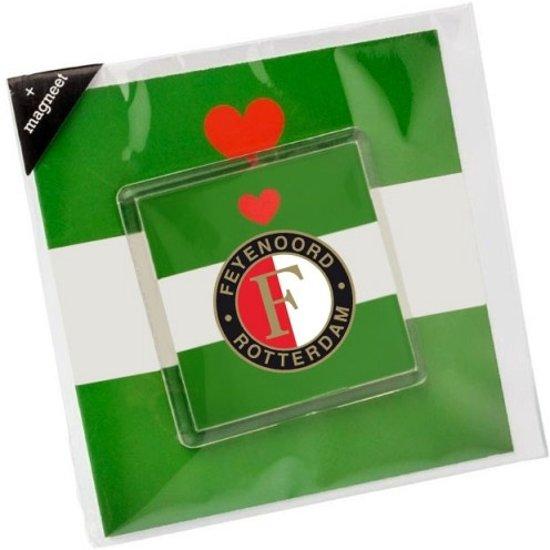 Feyenoord Wenskaart Met Magneet Groen in Kruisdorp