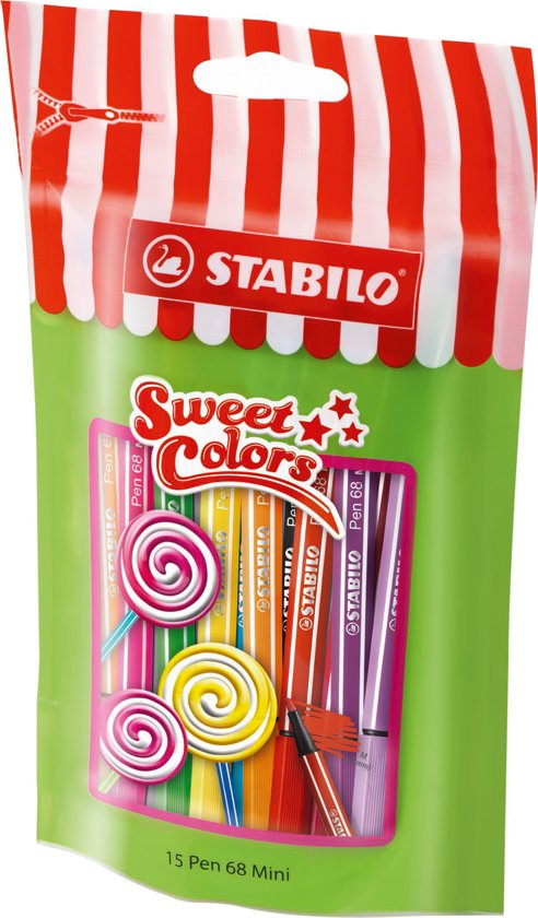 STABILO Pen 68 Mini Sweet Colors - Etui 15 kleuren in Soerendonk