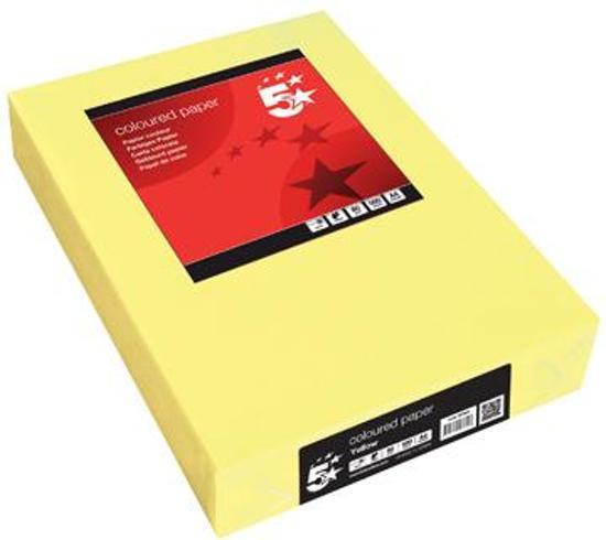 5Star printerpapier 5STAR COPY A4 GEEL 80G 500V