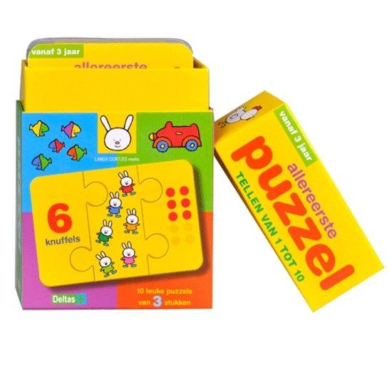 Allereerste Puzzel Tellen Van 1 Tot 10 Vanaf 3 Jaar In Doosje
